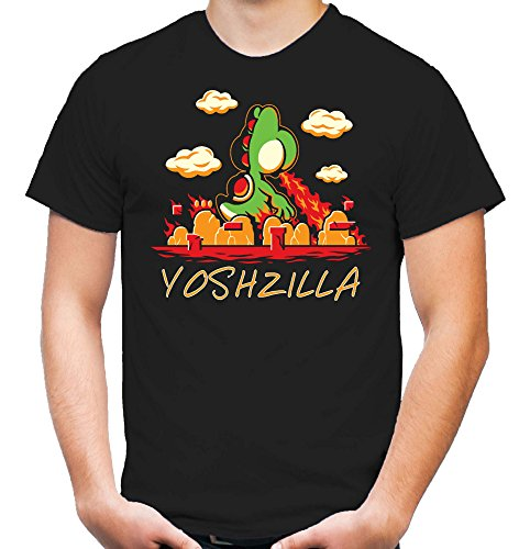 Mario Kart Kostüm Luigi (Yoshzilla T-Shirt | Herren | Super | Kostüm | Bekleidung | Nintendo | Comic | Mario | Kult)