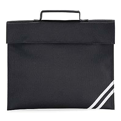 QUADRA CLASSIC BOOK BAG SCHOOL BAG - 8 COLOURS (BLACK)