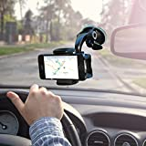 #2: Universal fit Cell Mobile Phone Holder for Car Windshield as Strong Suction Car Phone Holder From Zada Offers Fully Adjustable 360 Rotation Compatible with Most Smartphones