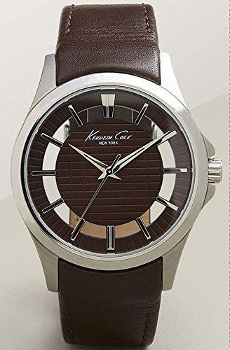 kenneth-cole-10022289-mens-in-pelle-colore-marrone-orologio-da-uomo
