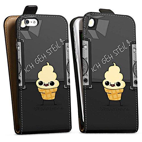 Apple iPhone X Silikon Hülle Case Schutzhülle DirtyWhitePaint Fanartikel Merchandise ICH GEH STEIL Downflip Tasche schwarz