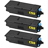 Doitwiser ® Compatible Toner Cartridge 3-Pack For Kyocera TK3100 TK-3100 FS2100D FS2100DN M3040DN M3540 Capacity 12,500 Pages
