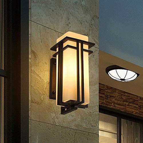 (Größe: Hohe 31CM) warmes Licht Outdoor Metall Schmiedeeisen Wandleuchte IP54 Wasserdichte Glaswandleuchte Terrassentür Balkon Tür E27 Edison Wandstrahler Hängende Beleuchtung