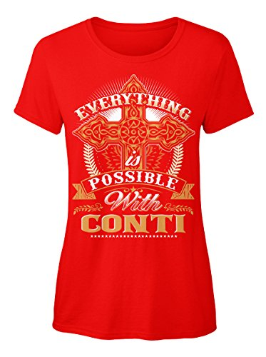 teespring Novelty Slogan T-Shirt - Everything Possible With Conti