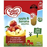 Cow & Gate Apple & Banana Pouches from 4-6m Onwards 4 x 100g (400g)