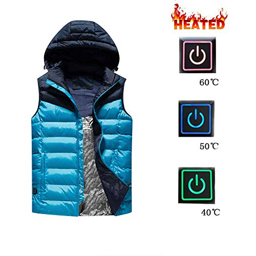 51 ZAkhT10L. SS500  - Ymorit Electric Heated Vest Temperature Adjustable USB Heated Warm Vest for Outdoor Camping Hiking