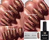 BLUESKY 80544Lametta Toast Kupfer golden bronze Nagellack-Gel UV-LED-Soak Off 10ml plus 2homebeautyforyou Shine Tücher
