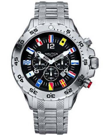 Nautica Flags Chronograph Herrenuhr A29512G