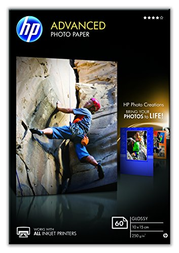 HP Q8008A Advanced Glossy Fotopapier 250g/m² 10x15cm 60 Blatt, weiß (R 15 Hp Laptop)