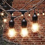 AVAWAY LED Lichterkette Außen E27 LED Glühlampe Glühbirne Retro Lampe für Nostalgie Antik Beleuchtung Party Weihnachten Dekoration