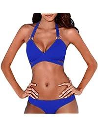 SHOBDW Conjunto de Mujeres bikini, sexy push-up rellenado traje de baño vendaje de ropa de playa