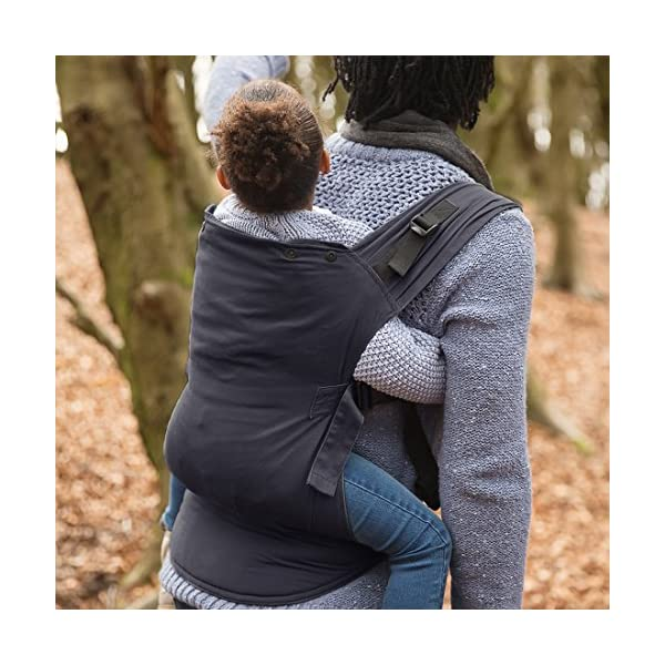 Izmi Toddler Carrier, Three Carry Positions, for Children Weighing 8kg-27kg, Midnight Blue Izmi Ideal for carrying your baby from 9months onwards (8kg-27kg/17.6lbs-60lbs) Adjustable seat width provides the best support from 9months onwards, whilst holding your little one in a hip healthy position 3 carrying positions: front carry, back carry and hip carry 4