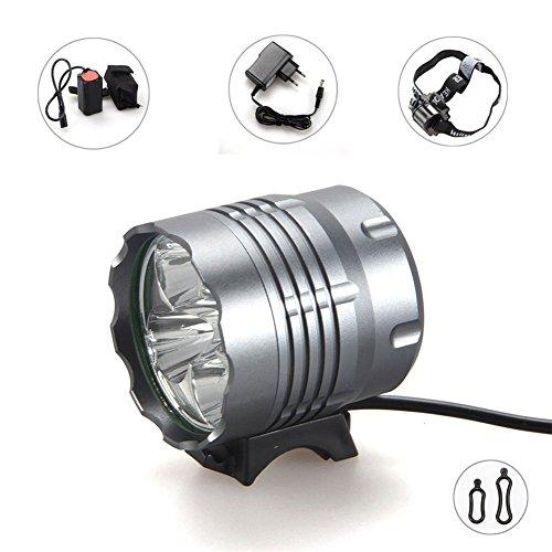 FIVEFIRE 5 x CREE XM-L T6 wasserdicht Fahrradlicht , Scheinwerfer, Kopflampen, Stirnlampe, Fahrrad Vorderes Leuchtturm, 3Modes mit 4 x 18650 Akku-Ladegerät