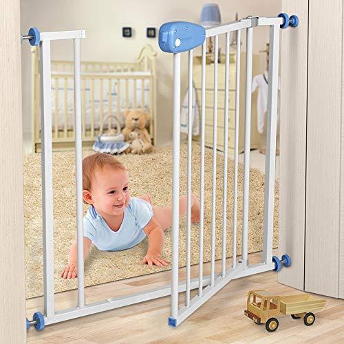 Infantastic Türschutzgitter Baby Schutzgitter 74-87 cm | lackierte Stahlkonstruktion | Treppenschutzgitter, Absperrgitter, Gitter, Haustier
