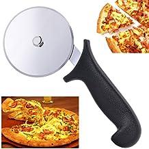 Premium Pizzaschneider BYBO Pizza Cutter Edelstahl Pizzaroller, Pizza Schneider, Profiausführung für zu Hause Küche und professionelle Verwendung