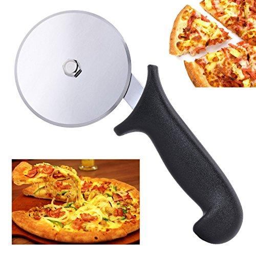 Premium Pizzaschneider BYBO Pizza Cutter Edelstahl Pizzaroller, Pizza Schneider, Profiausführung für zu Hause Küche und professionelle Verwendung Küche Pizza Cutter