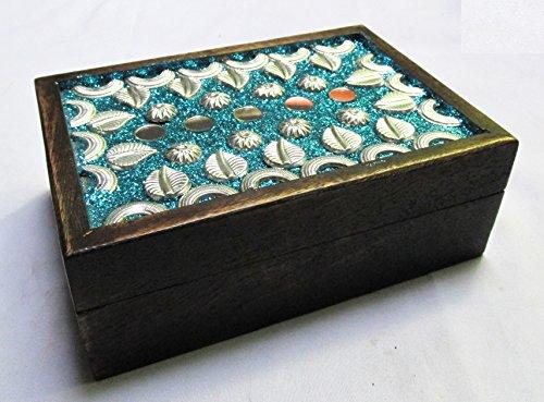 & Wandspiegel handgefertigten handgeschnitzten Deko Schmuck Box für women-men Jewel | Home Decor Akzente | Speicherung und Organizer (Dekorative Box-spring Cover)