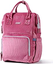 SUNVENO Diaper Bag   Corduroy Backpack   Large Capacity Baby Bags   Multifunction   Travel Backpack   USB   Mo