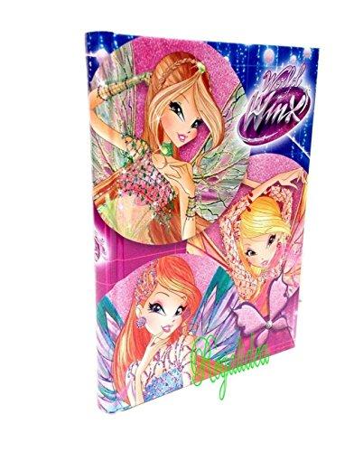 Winx DIARIO Scuola Bloom Cartoon Ragazza + Omaggio Penna Glitterata + segnalibro
