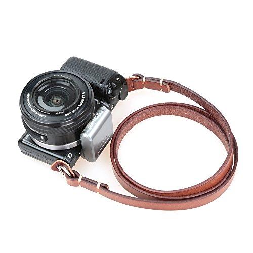 CANPIS Cinghia a tracolla universale in vera pelle per fotocamera Leica, Sony, ecc.