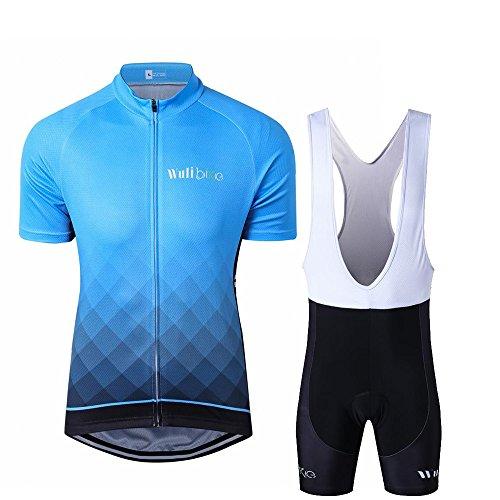 Männer Bequeme Radfahren Kit Fahrrad-Kurzschluss-Hülsen-Jersey & 3D Padded (Bib) Shorts Set Breath Radfahren Anzüge (Bib Körper)