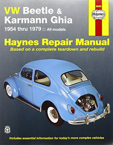 VW Beetle and Karmann Ghia (1954-79) Automotive Repair Manua (Haynes Automotive Repair Manuals)