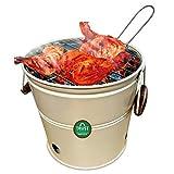 Trust basket Portable Barbecue Set (White)