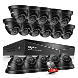 SANNCE 16-Channel 1080N/ 720P Surveillance DVR w/ 2TB HDD+ 16* 1.0MP Day Night