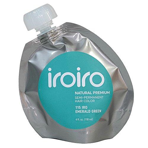Iroiro Premium Natural Semi-permanenten Haar Farbe 115Iro-Smaragd Grün 4Oz