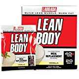Labrada Lean Body Meal Replacement Powder, Vanilla Ice Cream, 2. 78 Ounce, 20 Count