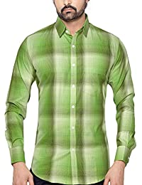 True United Checkered Cotton Casual Shirt For Men