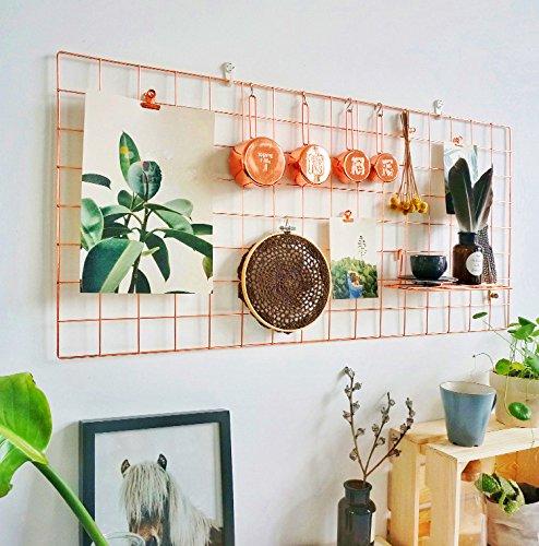 Teile Grid (Rumcent-Fotoanzeige, Rose-Gold, Metall-Netz-Panel, Wand-Dekoration, Größe: 45x 95cm, 1 Stück Rose Gold Grid 17.7