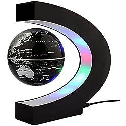 C- forma LED levitación magnética bola flotante Globo flotante Mundial de regalo del mapa