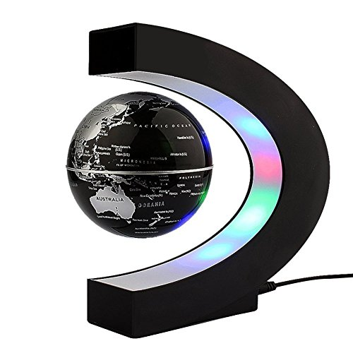 C levitazione magnetica a forma di sfera galleggiante Globe World Map regalo galleggiante LED