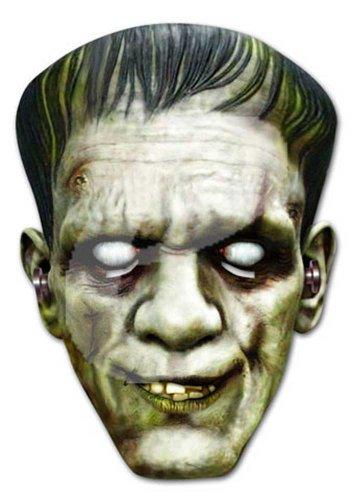 empireposter Frankenstein Horror Prominentenmaske, Papp Maske, aus hochwertigem Glanzkarton mit Augenlöchern, Gummiband - Grösse ca. 30x21 cm