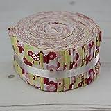 Flower Fairies grün ff-fj87g Jelly Roll 40Streifen Craft Patchwork Quilting 100% Baumwolle