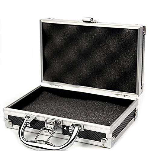 NZNNXN Flightcase Aluminium Werkzeugkasten Schaum Reisegepäck Organizer Case Sicherheitsbox Mikrofon Kamera Fotografie Carry Lock Aufbewahrungsbox (Kleine Mikrofon-case)