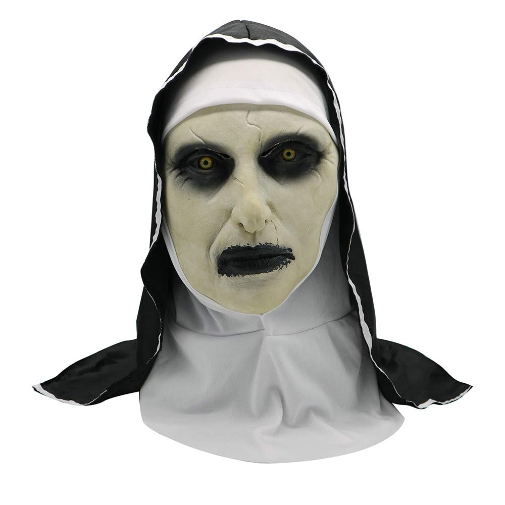 OHQ MáScara Scary Props De Halloween The Conjuring Devil Nun Horror Masks con Traje