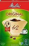 Melitta 17808.7 filtri per caffe ricambi, 1 pacchetto da 80 filtri, Confezione da 6