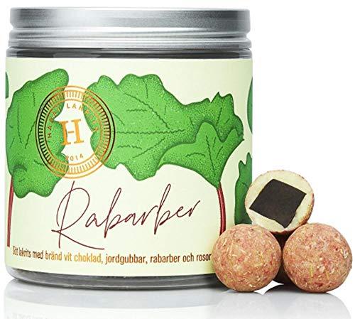 Haupt Lakrits | RHABARBER Lakritz Pralinen - Sommeredition 150 g (Lakritze Schokolade)