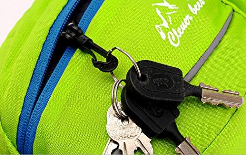 YKD Sport Hüfttaschen Gürteltasche Schweißleder Gesponnener Beutel Nylon Material für Joggen Radfahren Wandern Bergsteiger Outdoor -L11 Blau