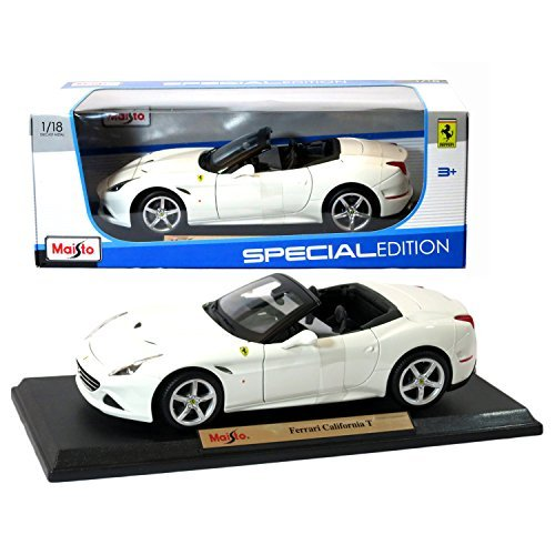 Maisto Year 2015 Special Edition Series 1:18 Scale Die Cast Car Set - White Color Grand Touring Sports Coupe FERRARI CALIFORNIA T (Dimension: 9 x 4 x 2-1/2) by Maisto (Scale-2015 18 Diecast 1)