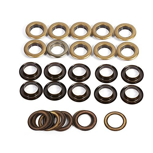 8/10/12/14 / 17mm Antique Brass Eyelet Grommets Kit