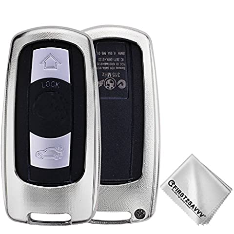 First2savvv Housse Protection Télécommande Clé Cover Pour BMW 3 Series (2005-2012), BMW 5 Series (2006-2010), BMW 6 Series (2006-2007), BMW M3 (2009-2013), BMW M5 (2005),BMW X5 (2008-2013), BMW X6 (2008-2013)(s'il vous plaît vérifier la compatibilité de la photo du produit) CAR-BMW-XX-C16
