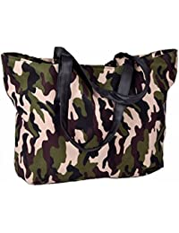 Femme sac à main sac à bandoulière sac fourre-tout en Motif camouflage armée Imprimé 50x 30cm