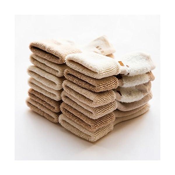 DEBAIJIA 3 Pares de Calcetines Bebé Algodón organico Grueso Calcetines Térmicos Largo Recién Nacidos 0-36 Meses Invierno… 3
