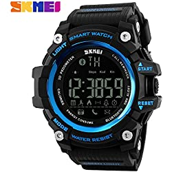 Bozlun Smart Watch 1227 with Remote Camera Calorie Pedometer Distance Monitoring Waterproof Bluetooth Call Low Power Remind - Blue