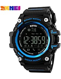 bozlun reloj inteligente 1227con remoto de la cámara podómetro contador de calorías distancia vigilancia impermeable de Bluetooth Llamada baja potencia recordar–azul
