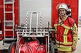 Feuerwehr Kennzeichnungsweste - ROT - Warnweste - HupF MIH Medical