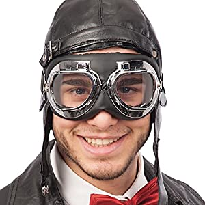 Carnival Toys - Gafas motociclista en bolsa con encabezado, color negro (6940)